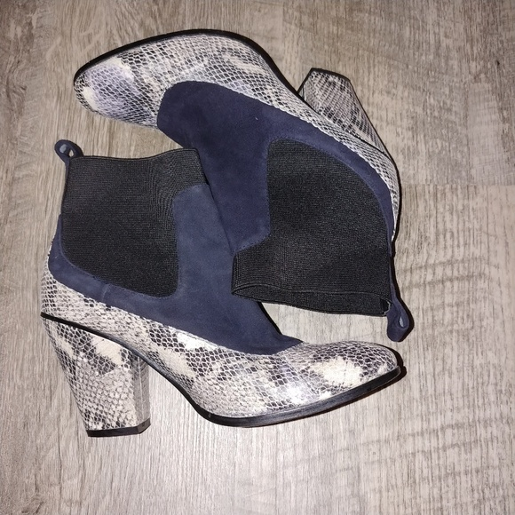 Shoes - Snake print booties 6